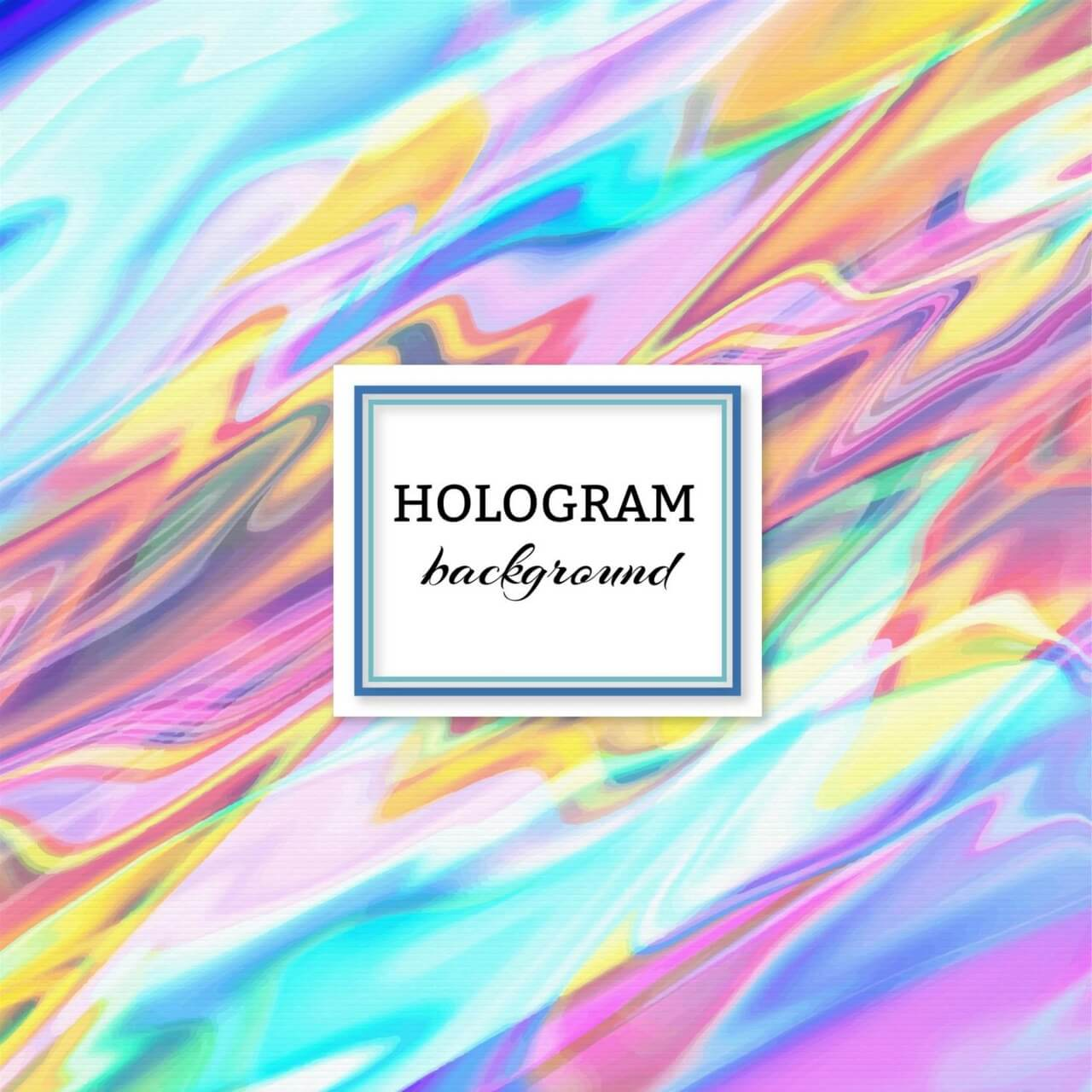 "Free vector ""Hologram background"""