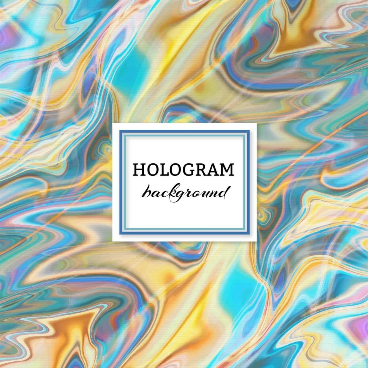 "Free vector ""Hologram background"""