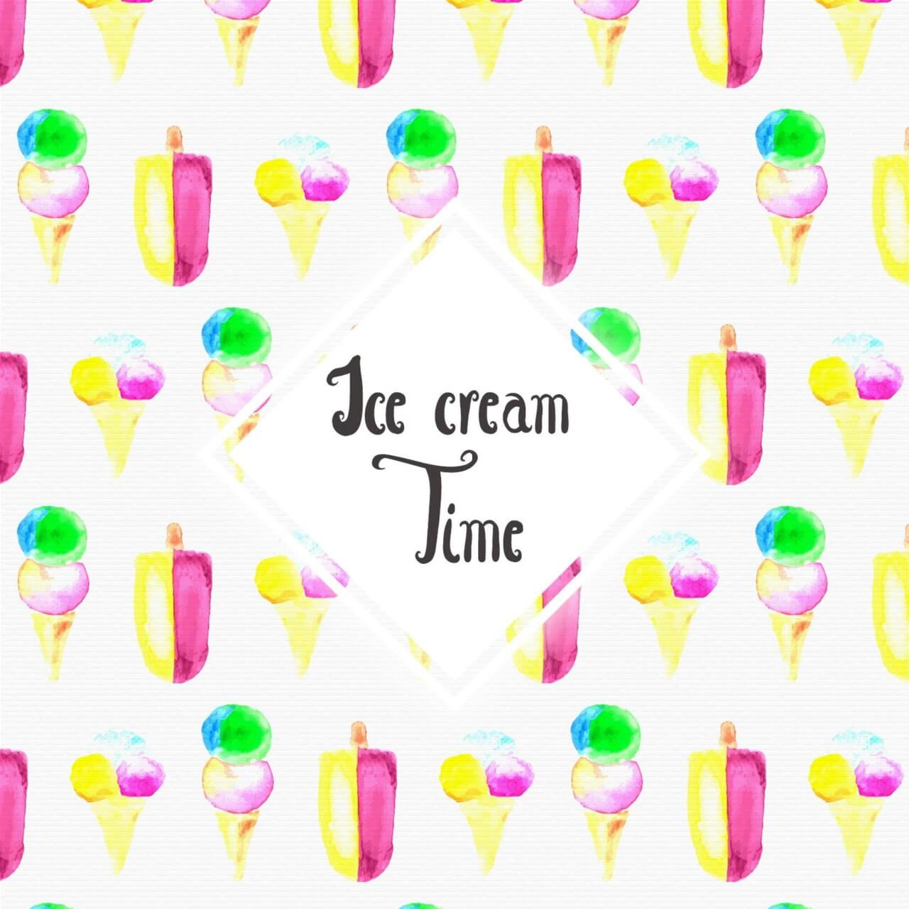 "Free vector ""Watercolor Ice cream background"""