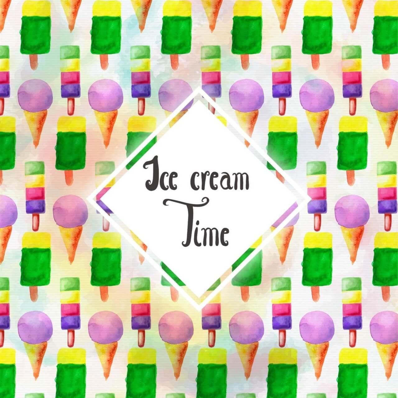 "Free vector ""Watercolor Ice cream background"""