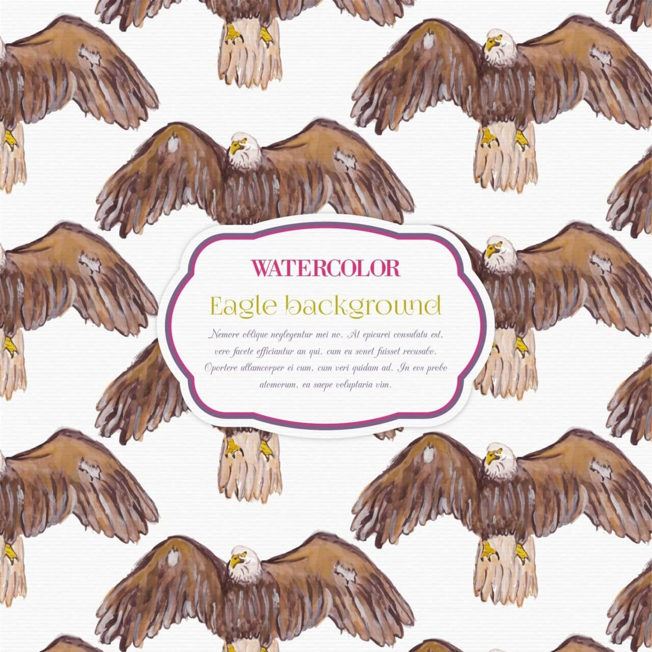 "Free vector ""Watercolor eagle background"""