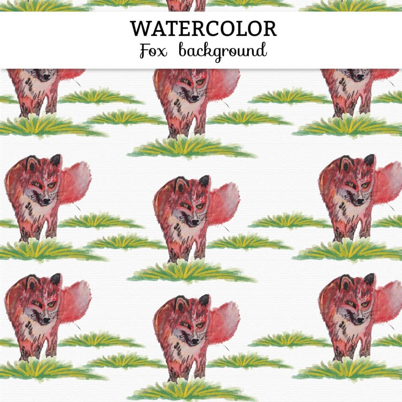 "Free vector ""Watercolor fox background"""