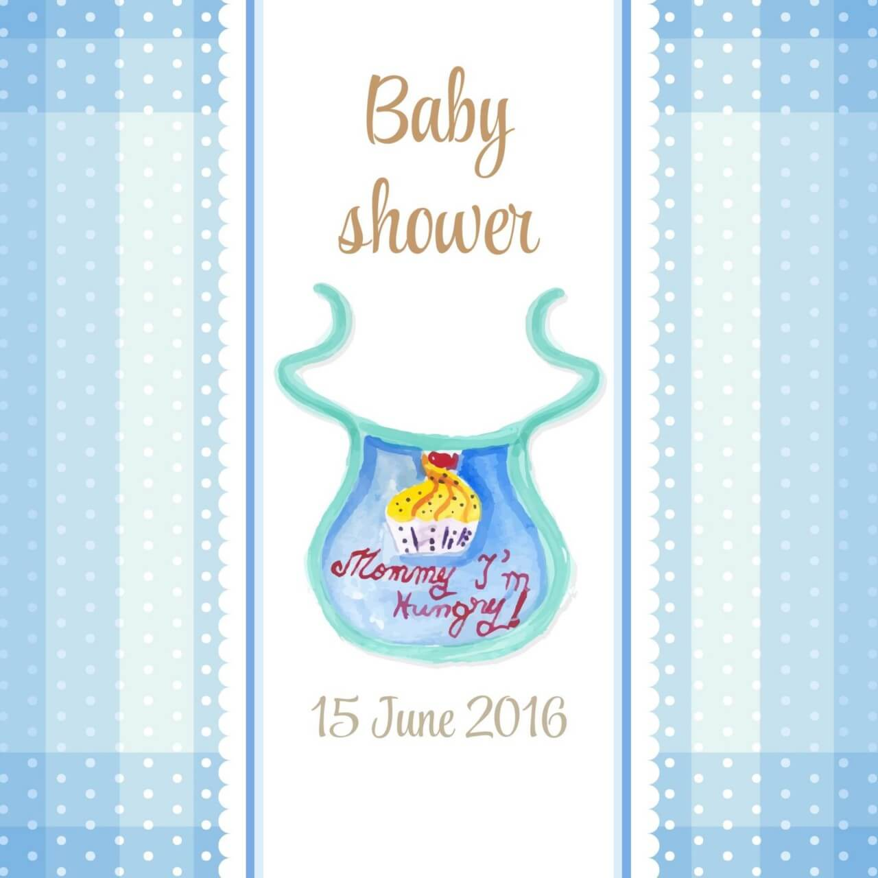 "Free vector ""Watercolor baby shower"""