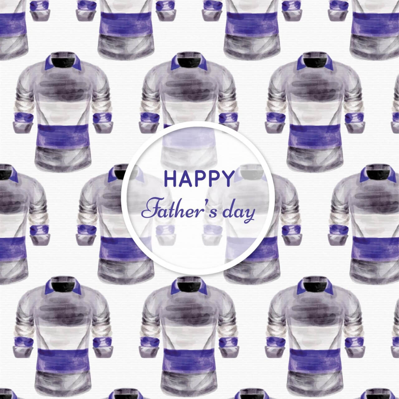 "Free vector ""Watercolor pattern with man clothes"""