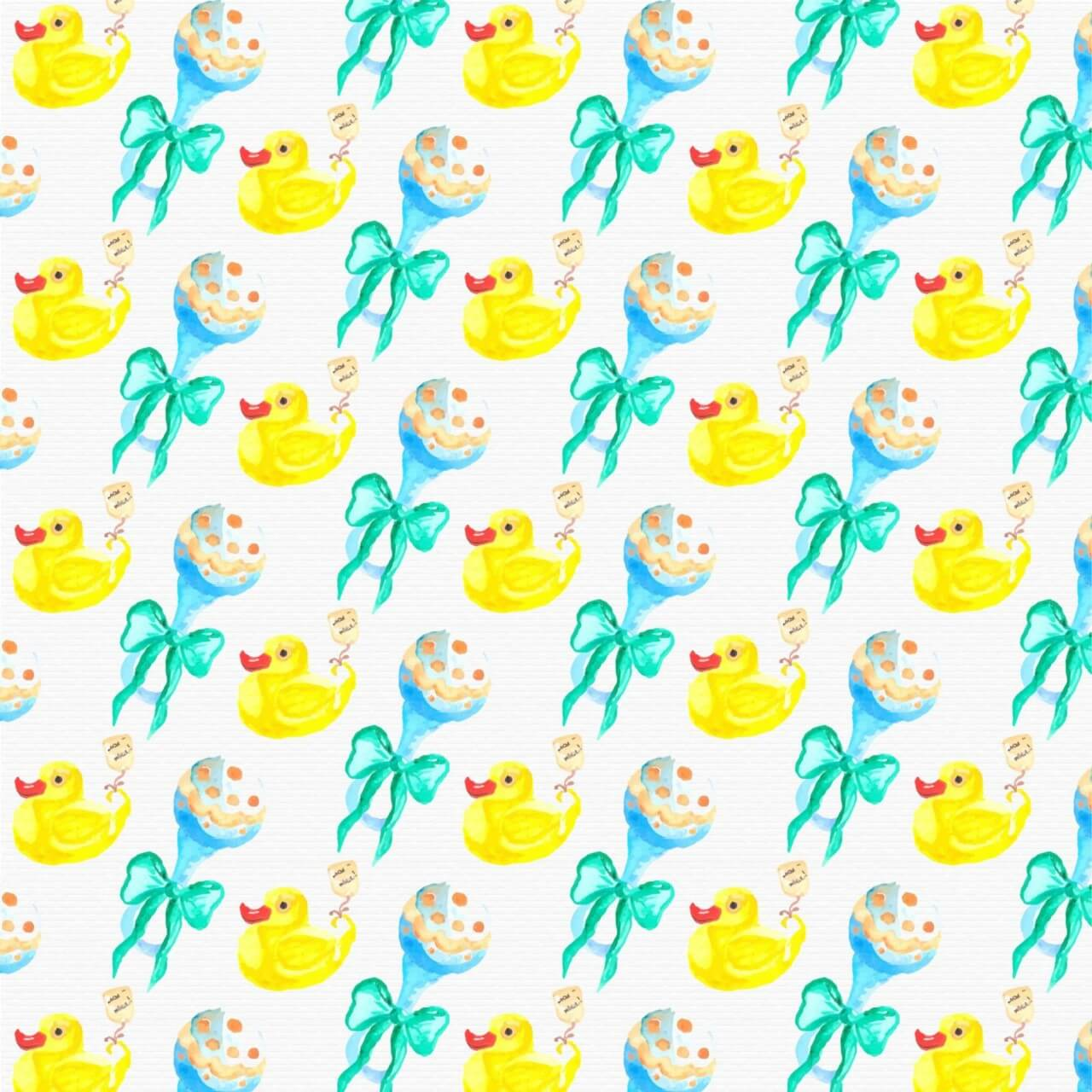 """Free vector """"Watercolor baby shower pattern"""""""