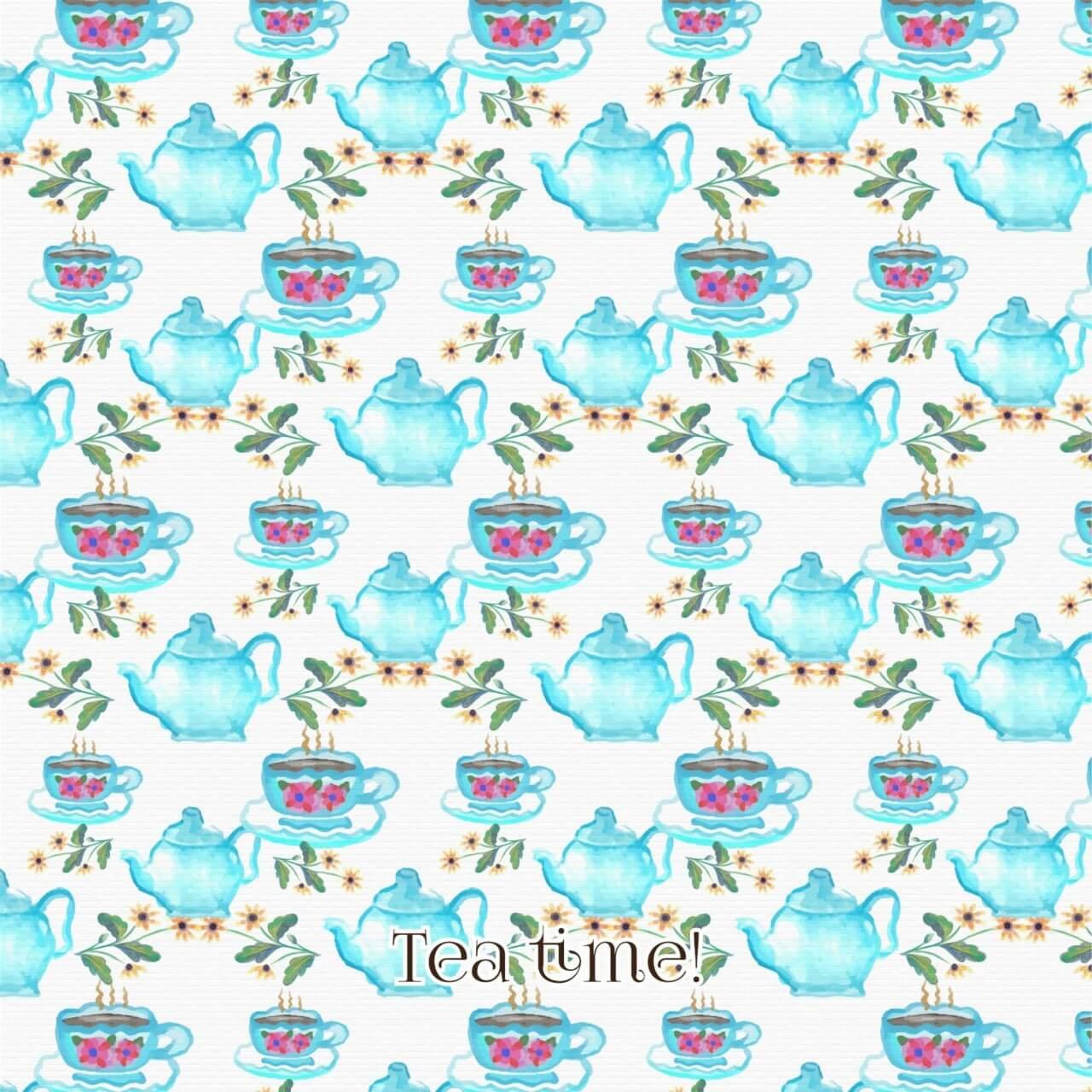 "Free vector ""Watercolor tea pattern"""