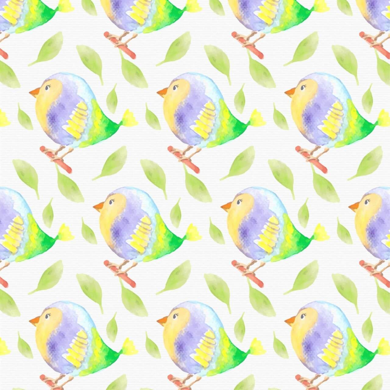 "Free vector ""Watercolor bird pattern"""