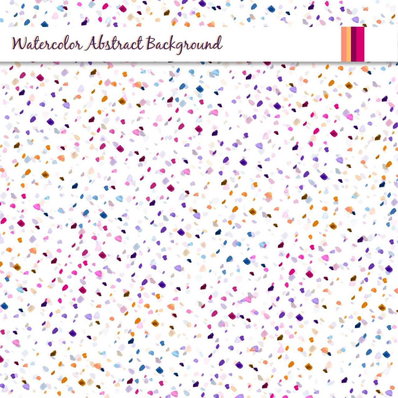 "Free vector ""Watercolor abstract background with colorful dots"""