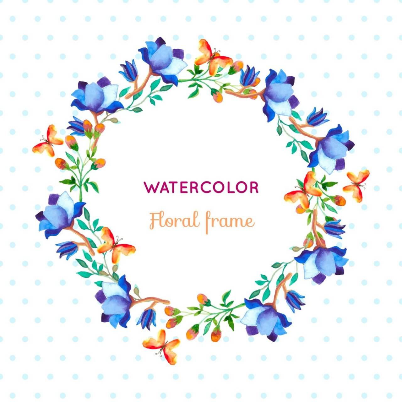 """Free vector """"Watercolor floral frame"""""""