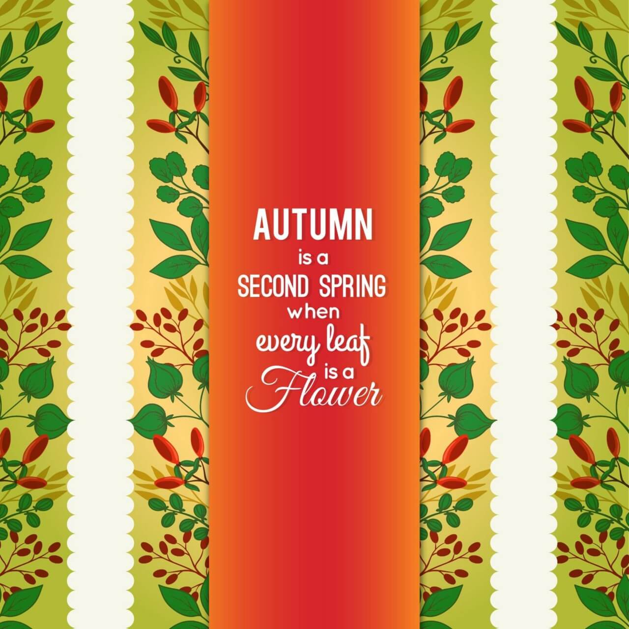 "Free vector ""Autumn Floral Card"""