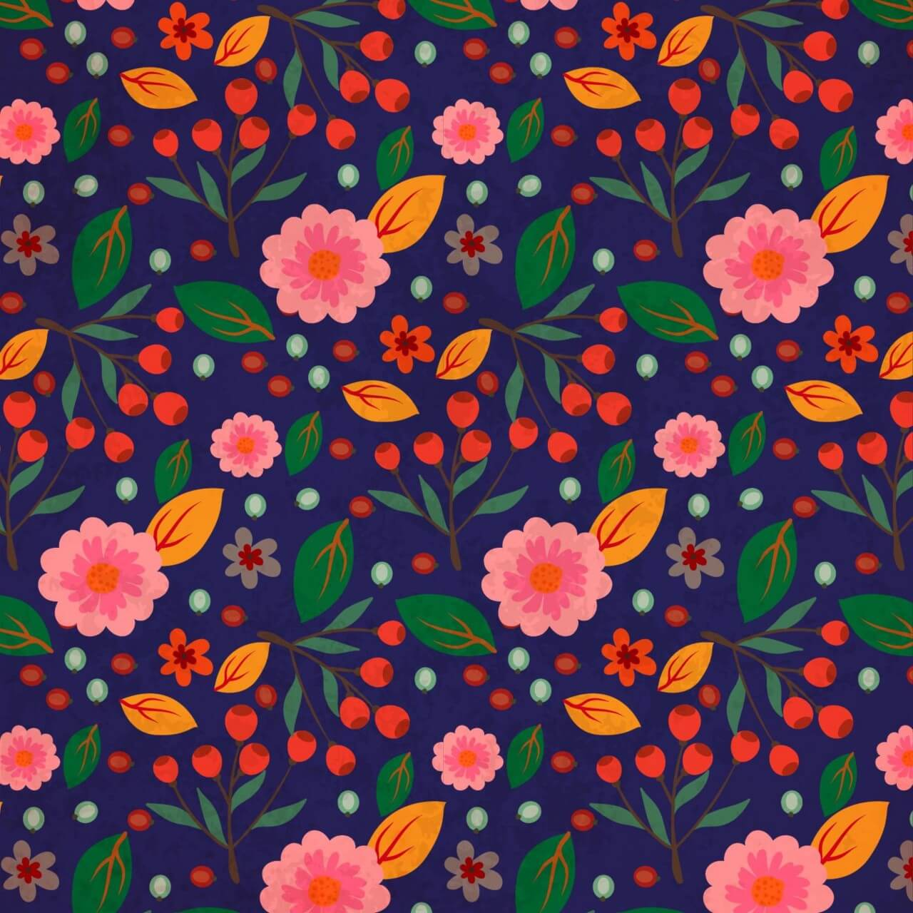 """Free vector """"Flora Nature Pattern"""""""