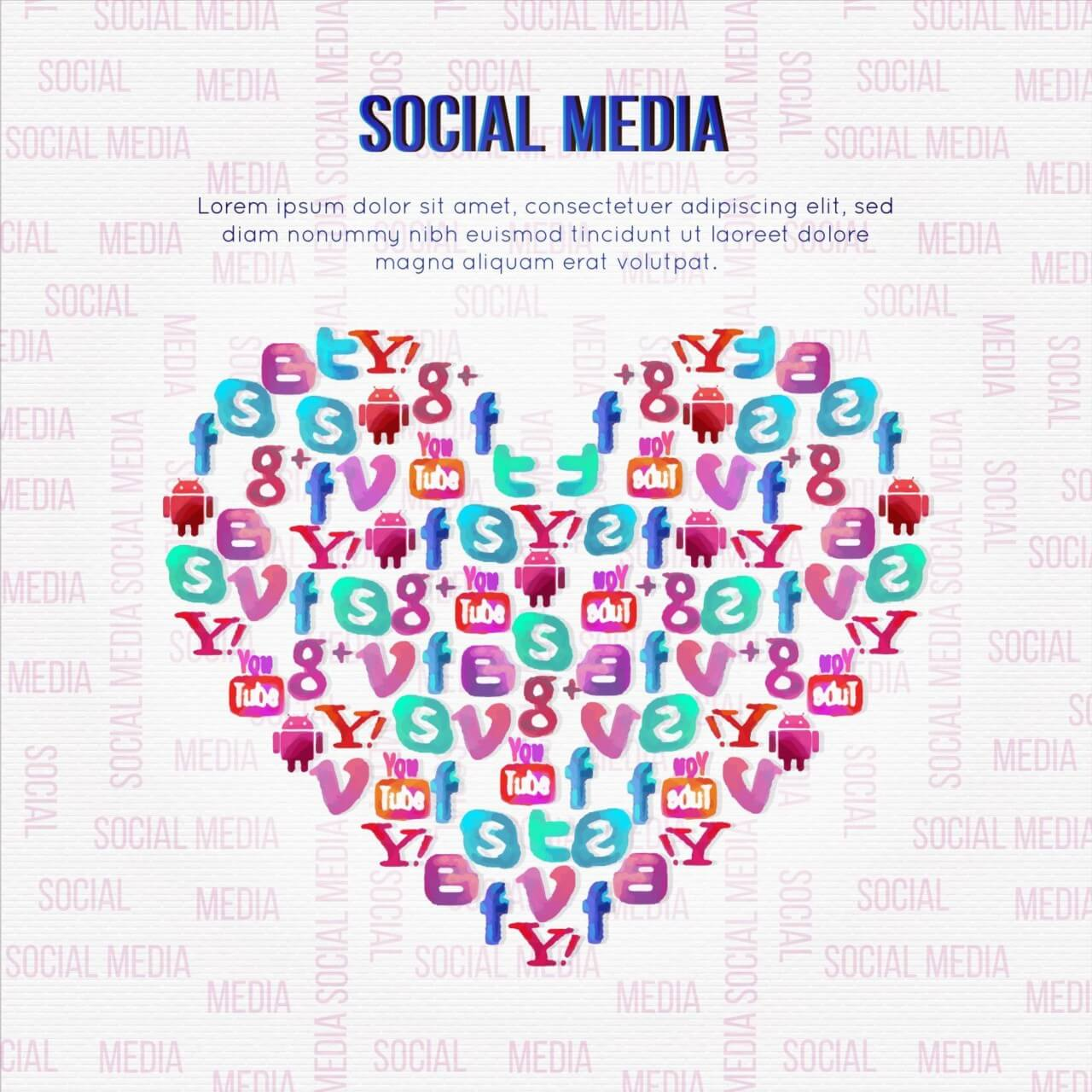 "Free vector ""Social Media Illustration"""