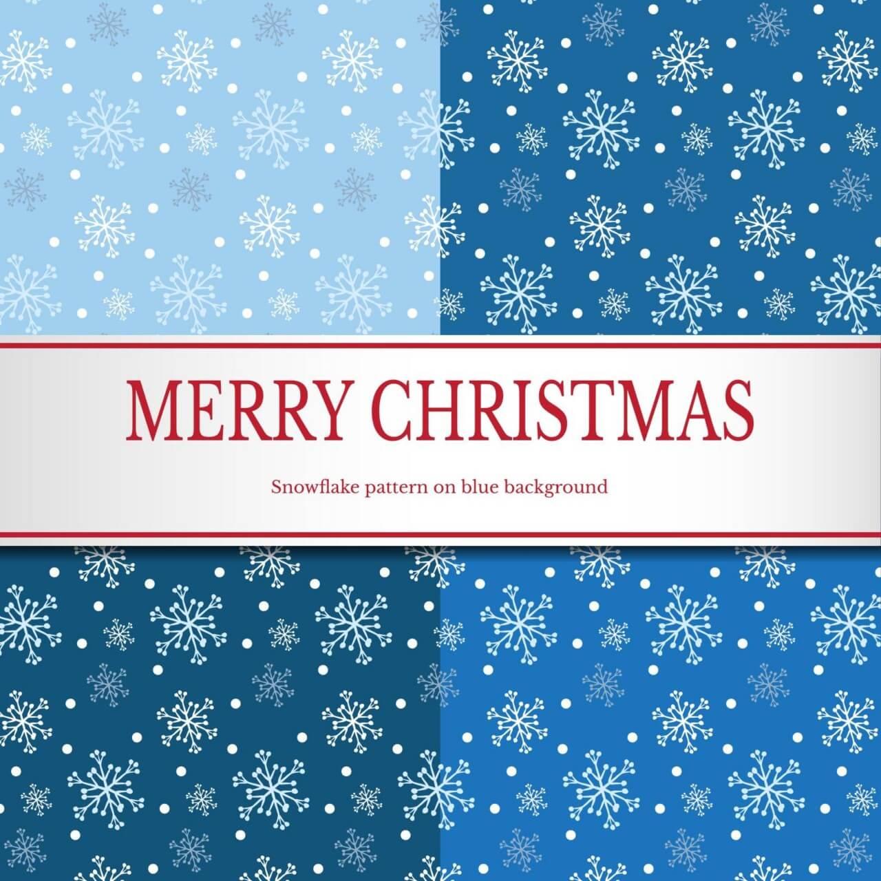"Free vector ""Christmas snowflake pattern"""