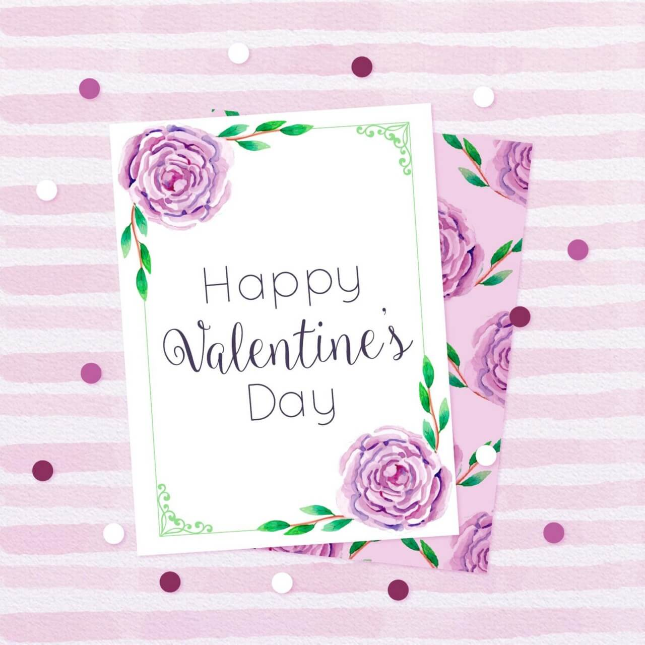 "Free vector ""Beautiful Love Cards in Watercolor Style"""