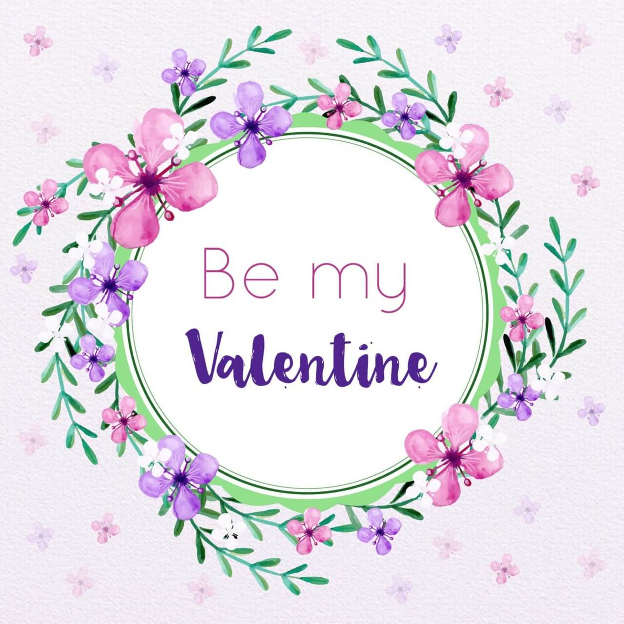 "Free vector ""Valentine's Day Floral Frame"""
