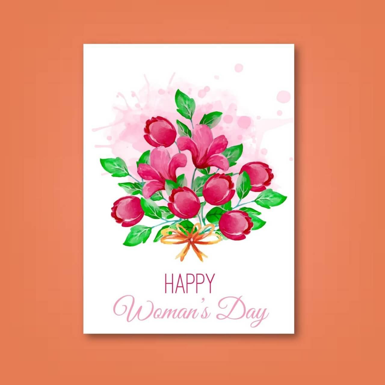 "Free vector ""Women's Day Romantic Card"""