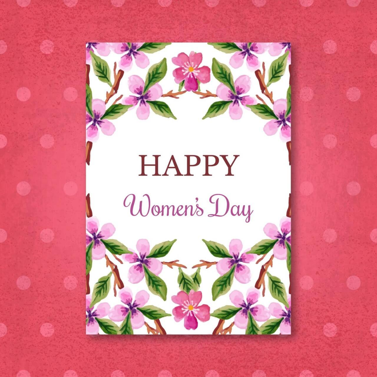 "Free vector ""Watercolor Women'Day Cards"""