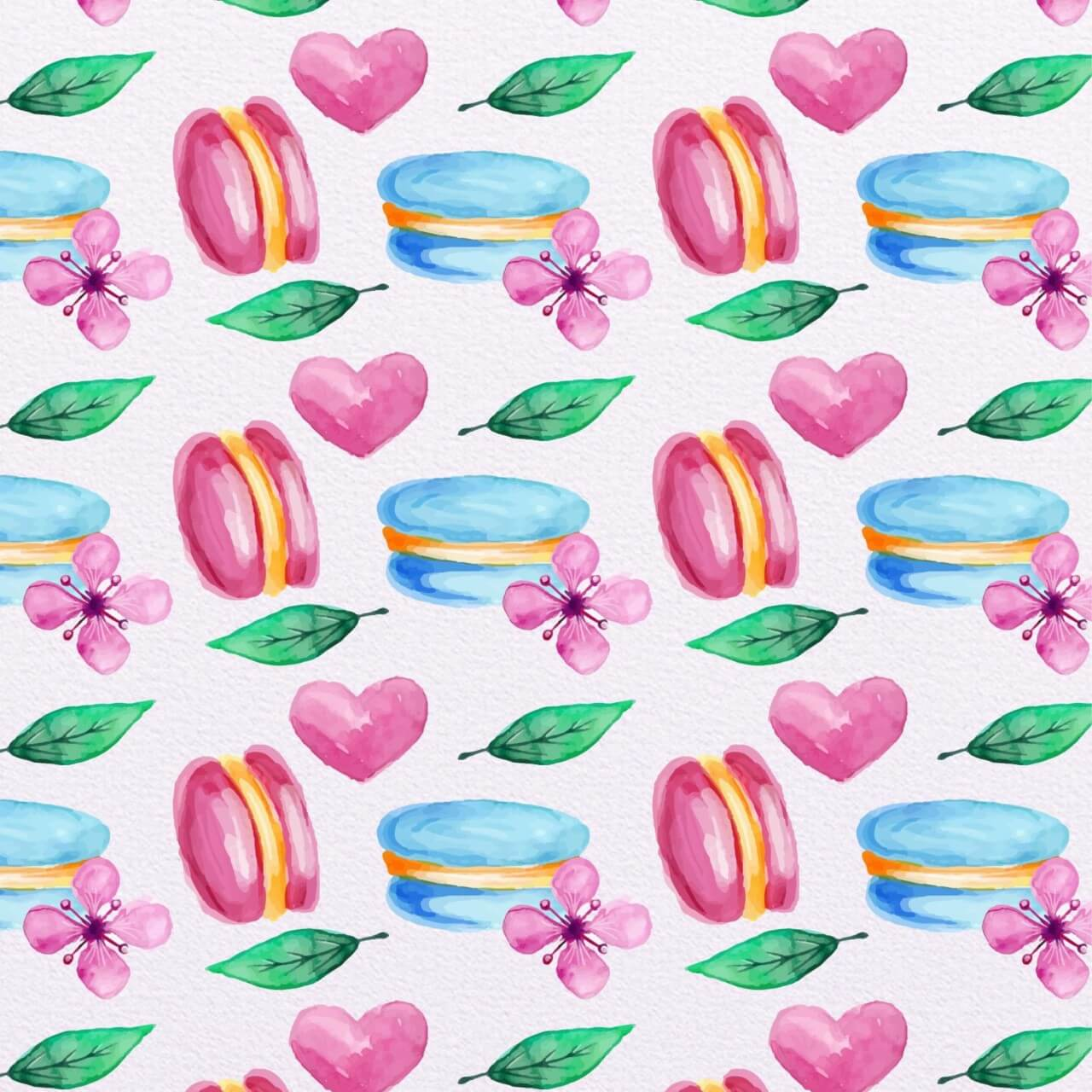 "Free vector ""Cute Watercolor Pattern with Candies"""