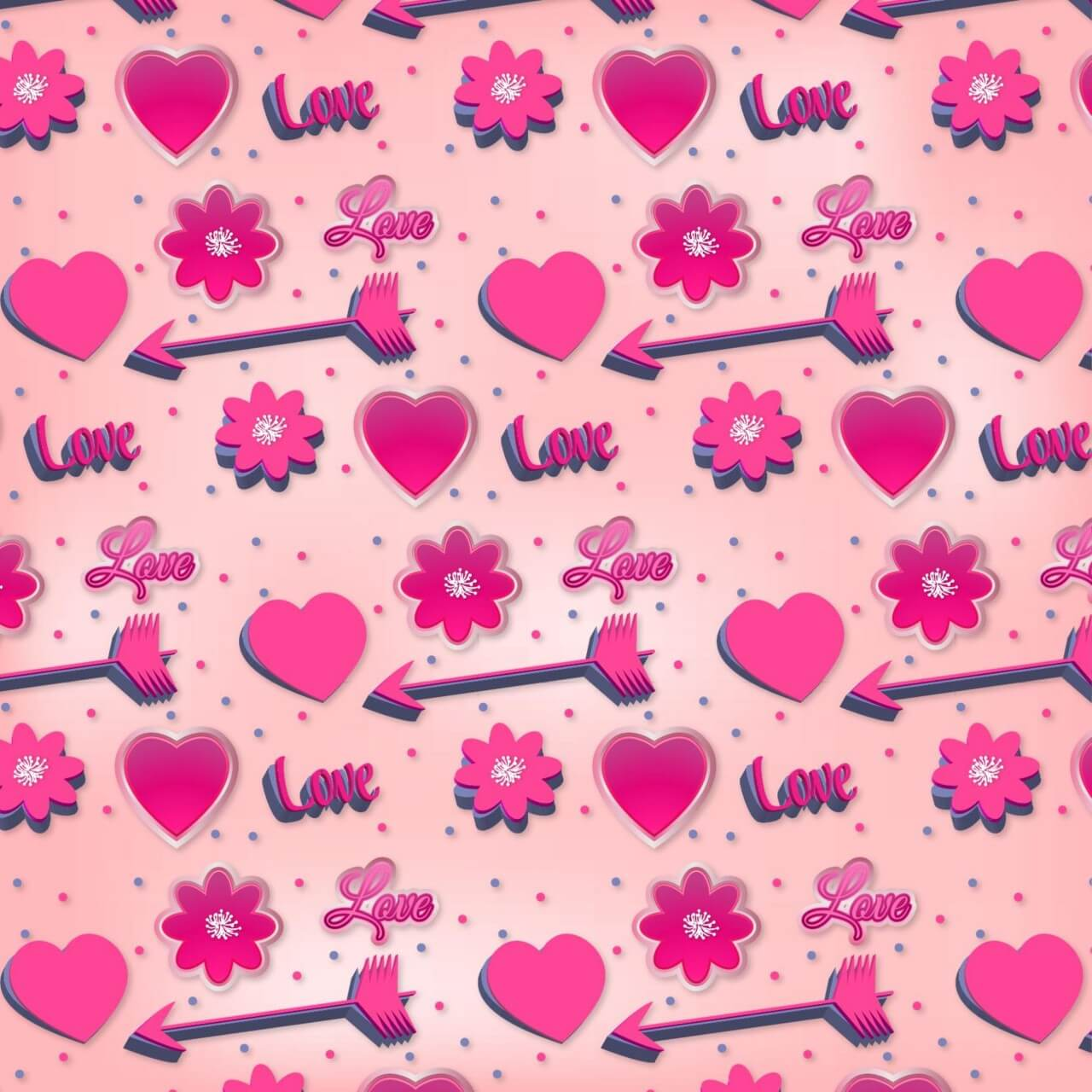 "Free vector ""Romantic Pink Pattern"""