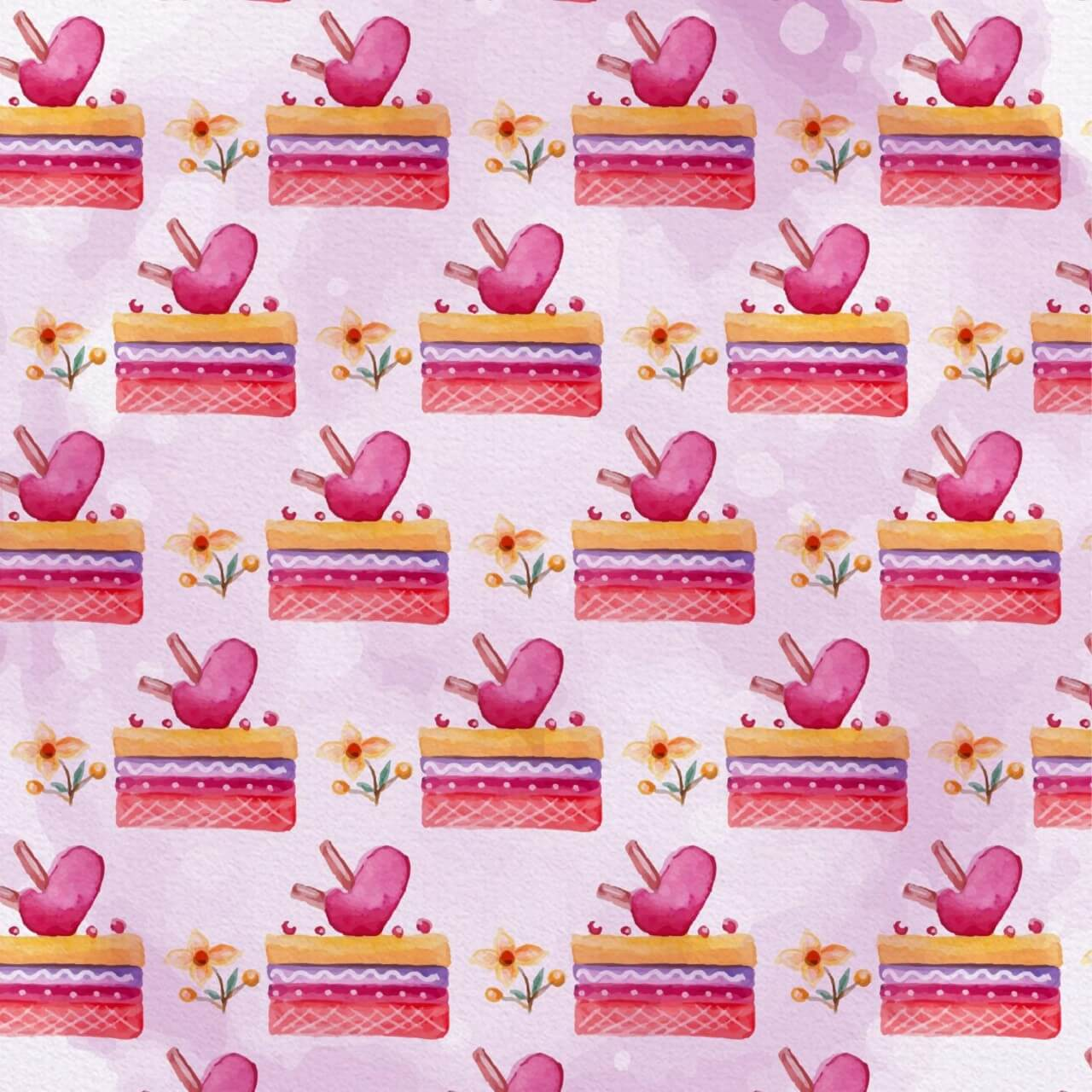 "Free vector ""Cute Valentine's Day Pattern"""