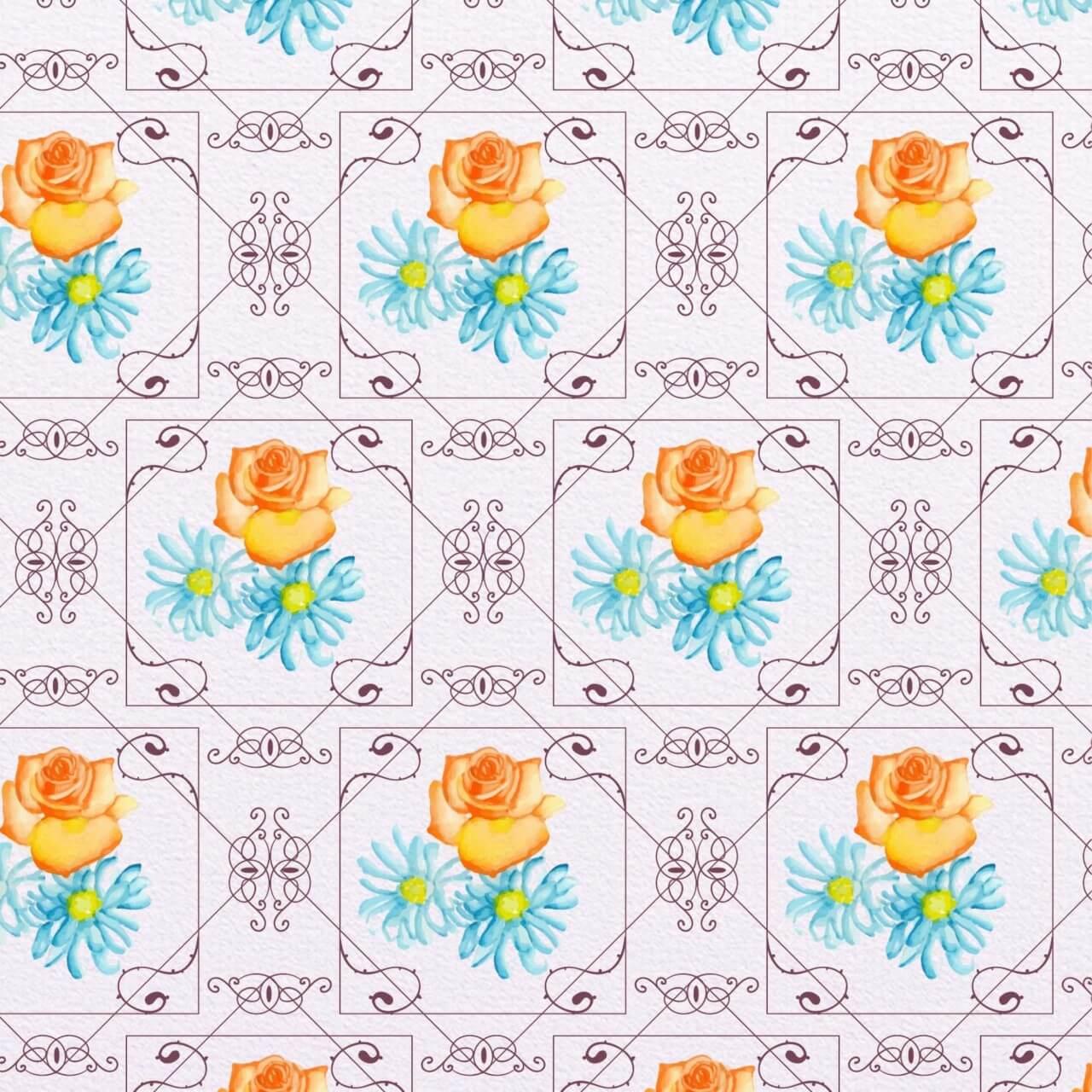 "Free vector ""Elegant watercolor pattern"""