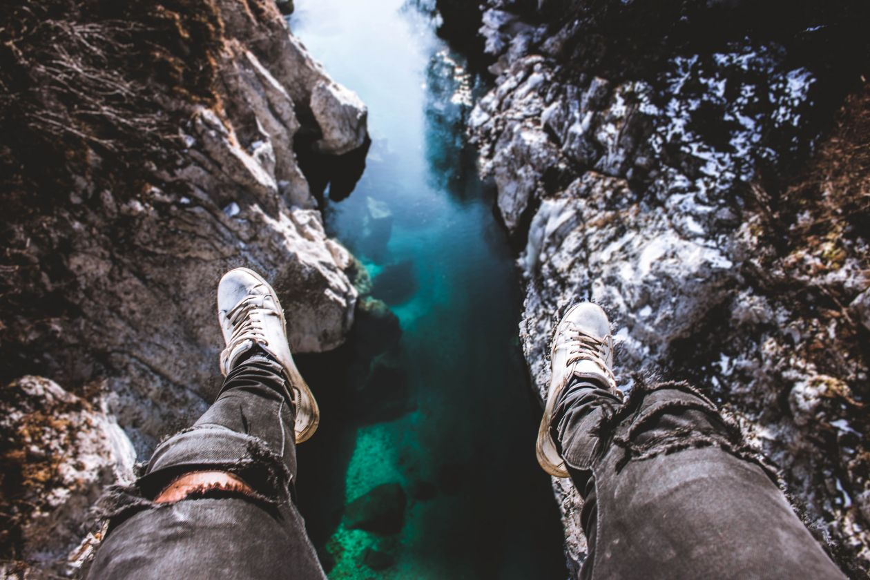 """Free photo """"Hanging off the cliff."""" by Alex Klopcic"""