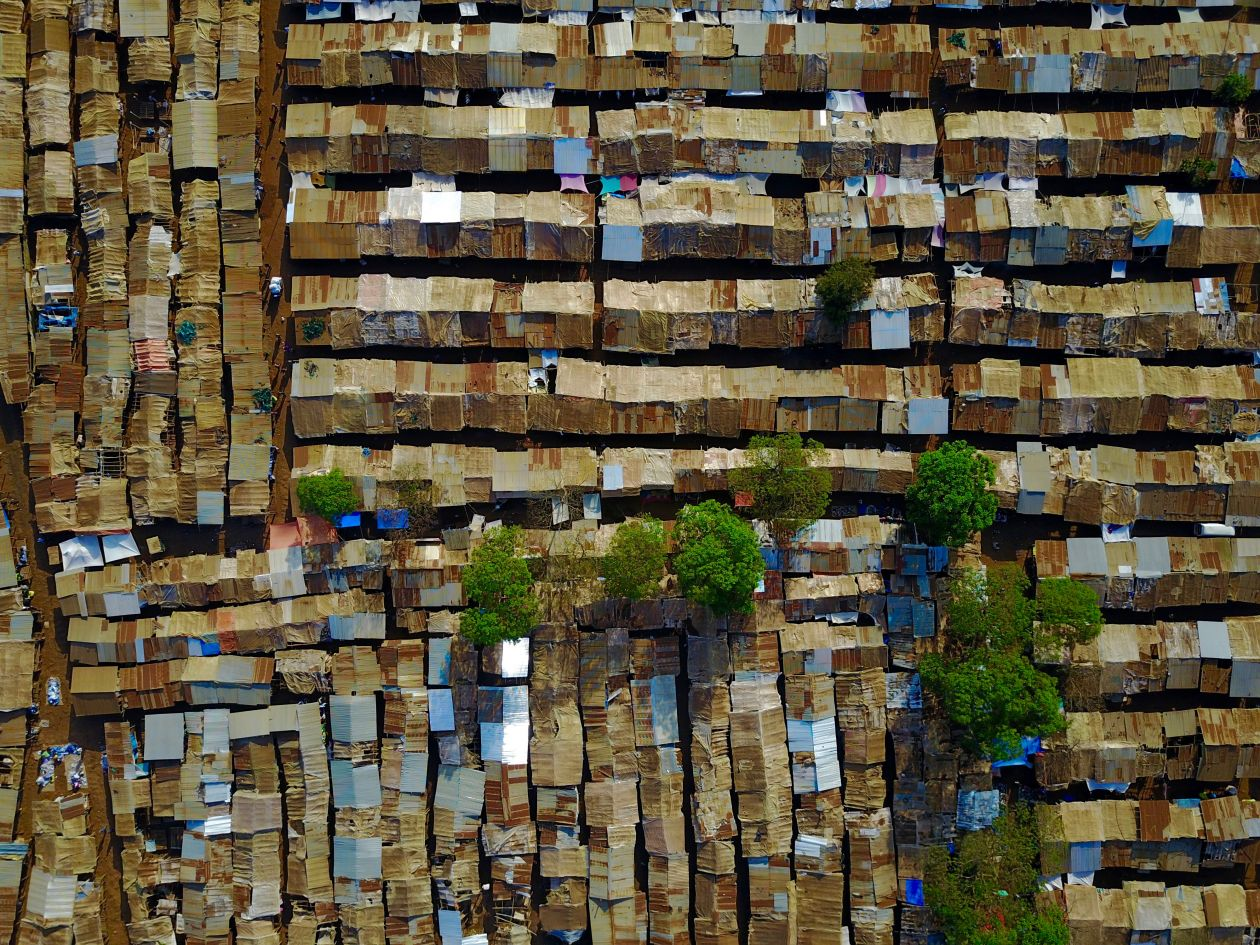 "Free photo ""African Market from Above"""