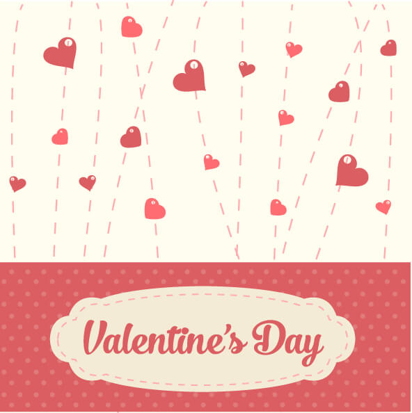 Valentines Vintage Background vector