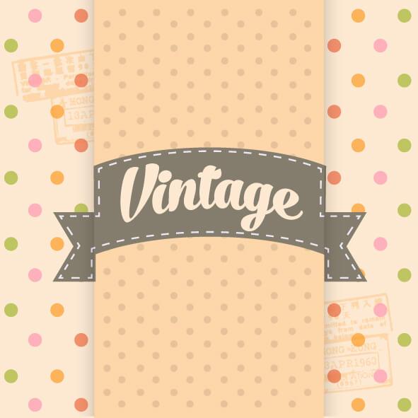 Vintage Template Background vector