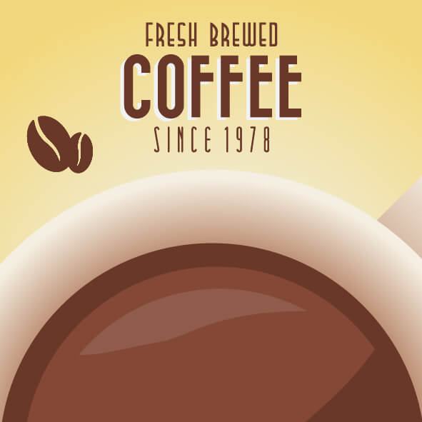 Vintage Coffee Background with Typography vector