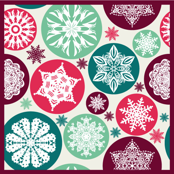 Christmas snowflake pattern. vector