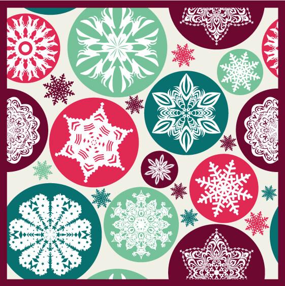 Christmas snowflake pattern. vector
