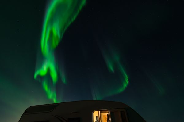 Camping under the Northern Lights photo