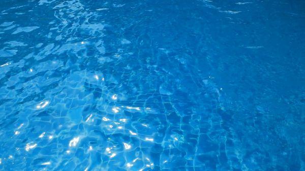 Swimming pool  ripples  blue water video