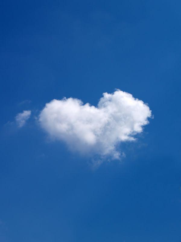 Heart shaped Cloud photo
