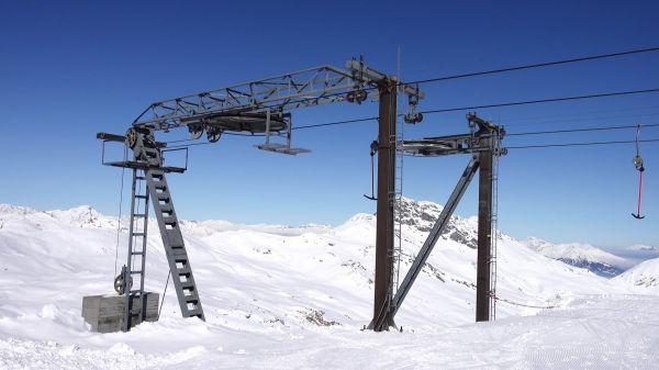 T-bar lift  lift  skiing video