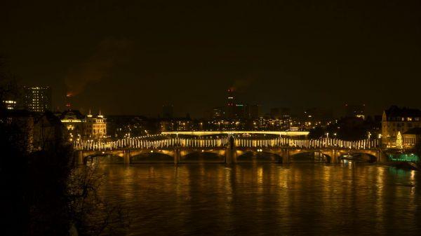 Basel  rheinbrücke  middle rhine bridge video