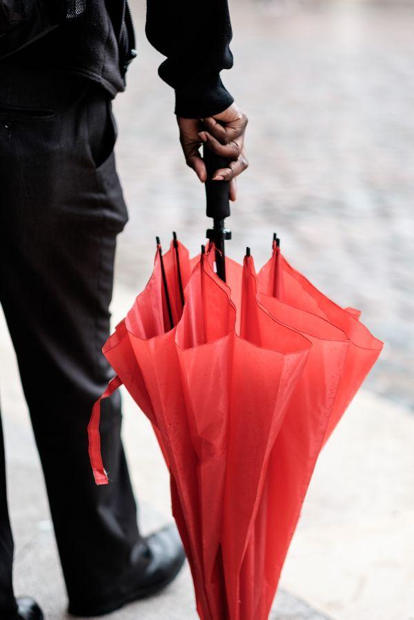 Red umbrella photo