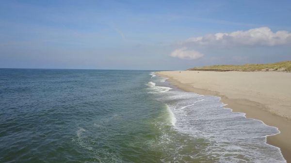 Aerial view  beach  sea video