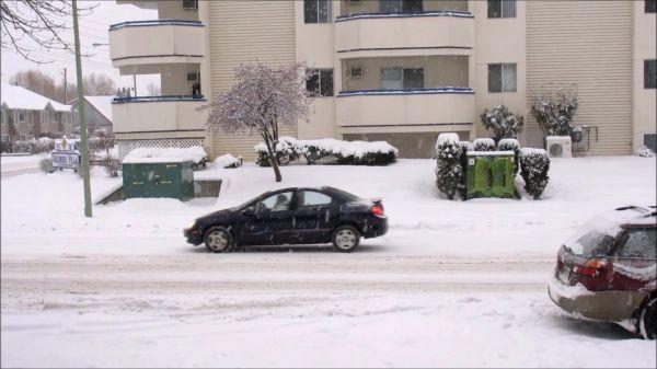 Winter  snowfall  street video