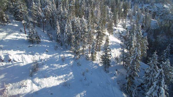 Okanagan  aerial  winter wonderland video