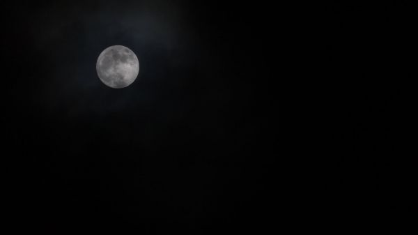 Moon  full  clouds video