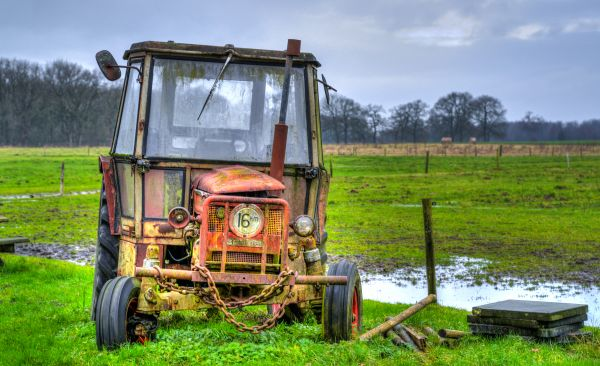 Abandoned tractor photo