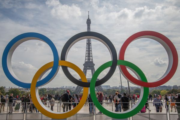 Olympic rings in Paris photo