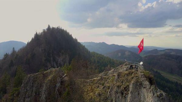 Mountain  summit  hiking video