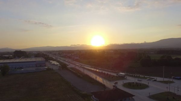 Sunrise  drone  aerial video