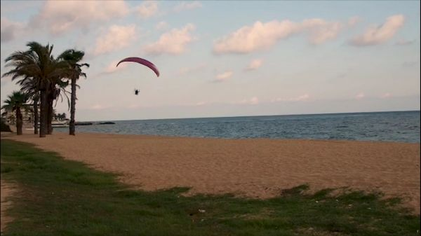 Paragliding  beach  sea video