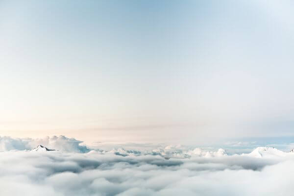 Clouds Sky Mountain Blue photo