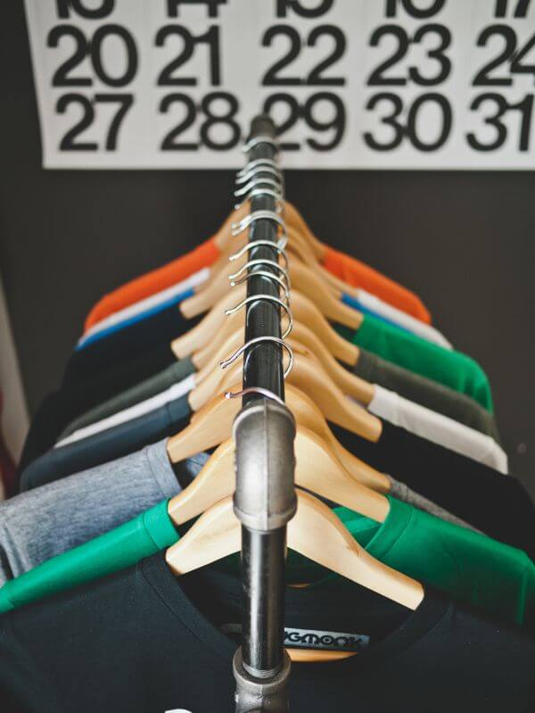 Clothes Hanger T-Shirt Store Colors Numbers photo