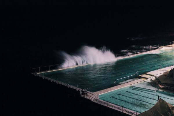 Pool Night Ocean Wind Water Turquoise photo